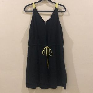 Black dress with neon accents
